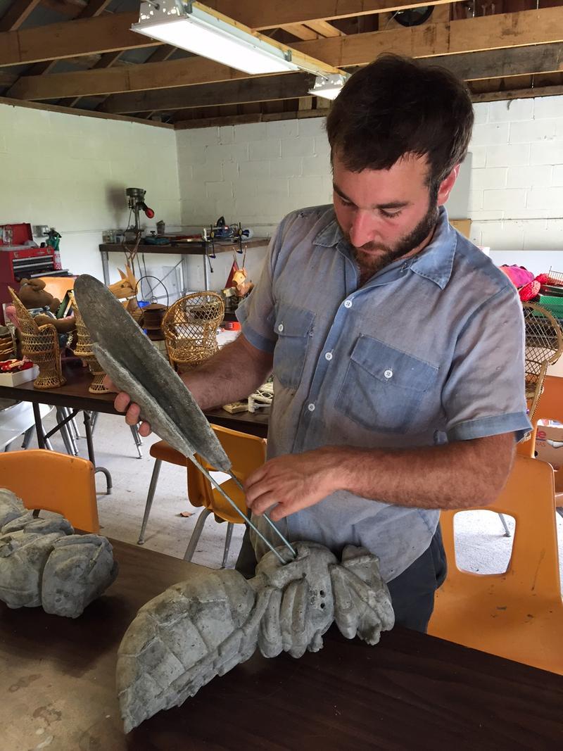 Sculptor, Aaron Treher.