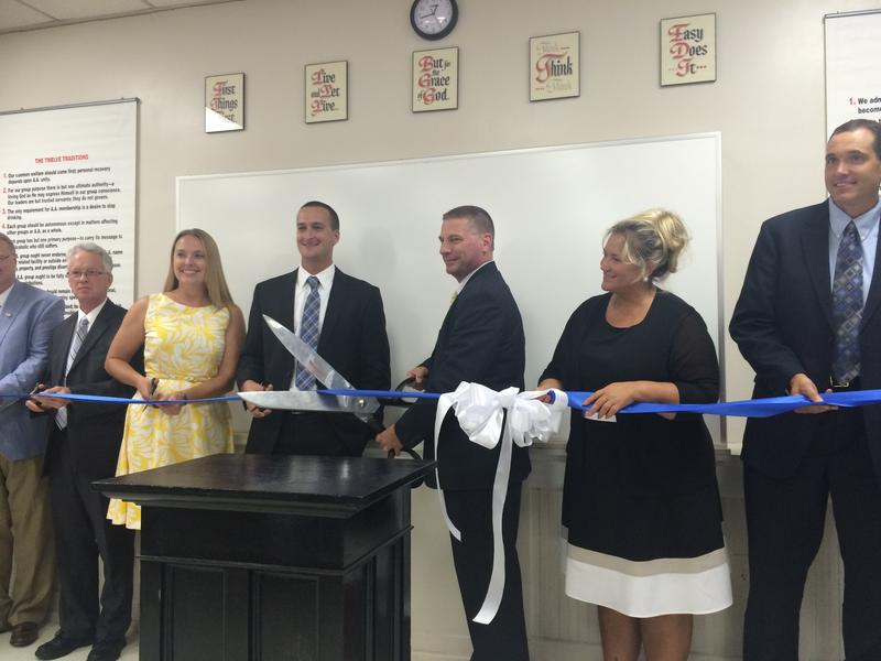 Federal, state and local representatives helped cut the ribbon to celebrate the opening of Four Seasons Recovery Center in Bluefield.