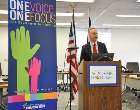 State superintendent of schools Dr. Michael Martirano announces that state education officials will review Common Core standards based on public input.