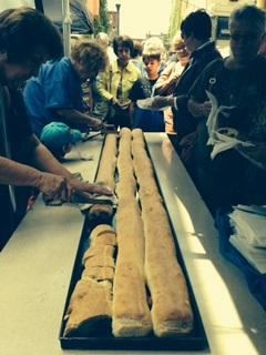 7ft  long pepperoni rolls for Tomaros Bakery's 100th anniversary celebration in May 2014