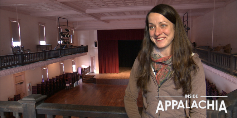Brynn Kusic is the Pocahontas County Opera House Manager. The Opera House is one of the music venues along the Mountain Music Trail