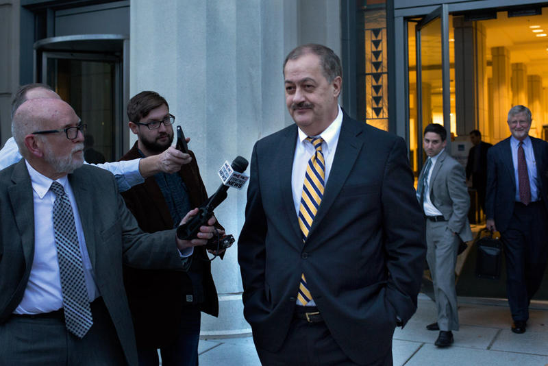 Don Blankenship leaving the Charleston federal courthouse Tuesday.