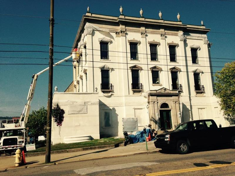 First State Capitol Building on Eoff Street in Wheeling undergoes exterior restoration