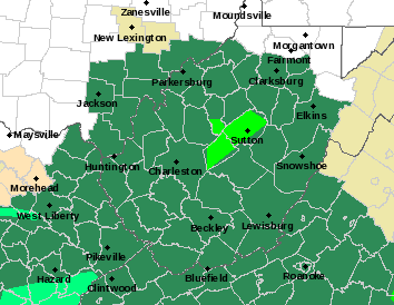 Parts Of WVa Experiencing Flooding Land Slides On Christmas Day - W va map