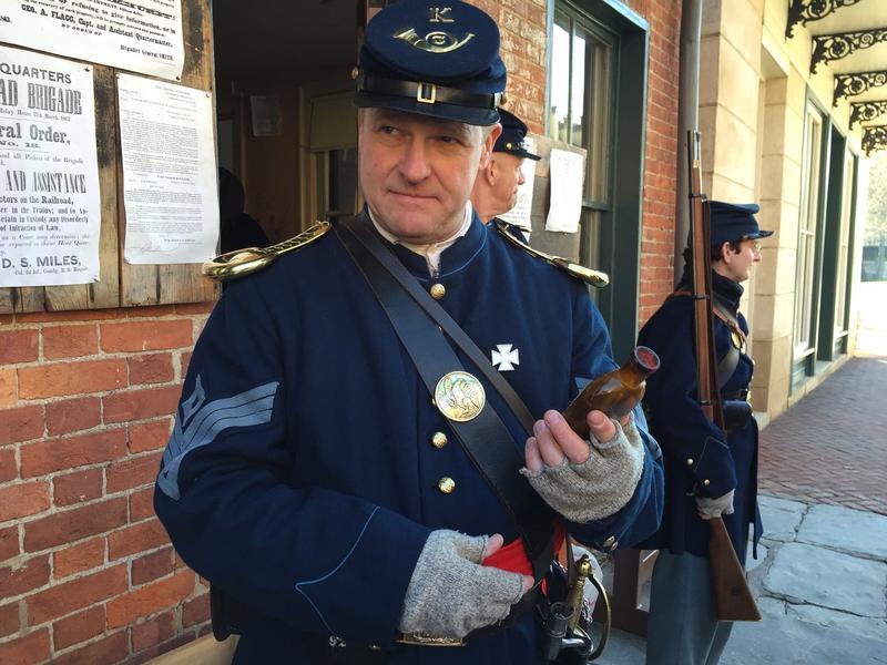 A Union soldier.