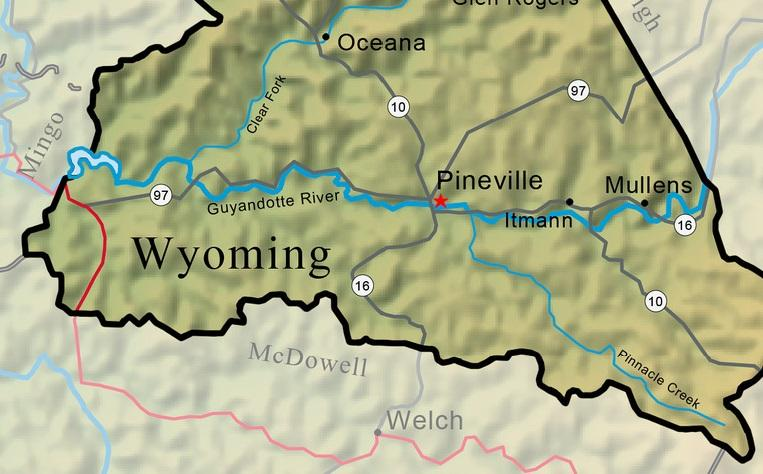 January Virginia General Assembly Creates Wyoming County - Wyoming county map