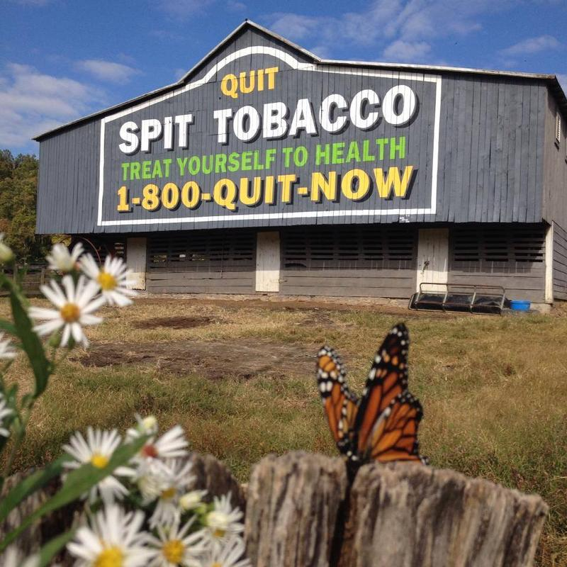 Tobacco Prevention barn at Peacemaker Farm in Hampshire County, West Virginia.