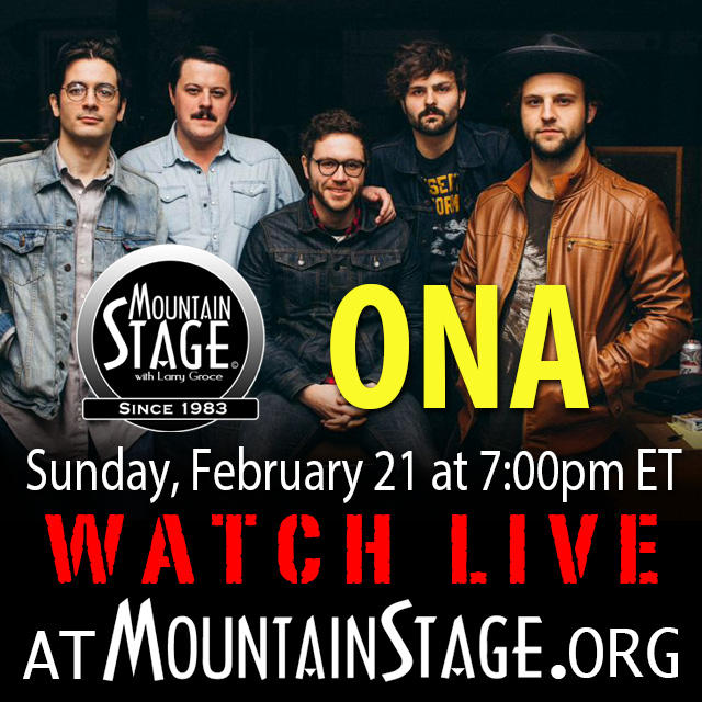 Watch Huntington rockers Ona make their Mountain Stage debut LIVE on MountainStage.org.
