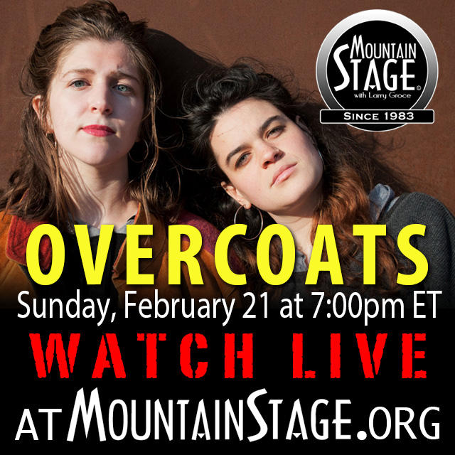 Watch Overcoats perform LIVE on Sunday's Mountain Stage.