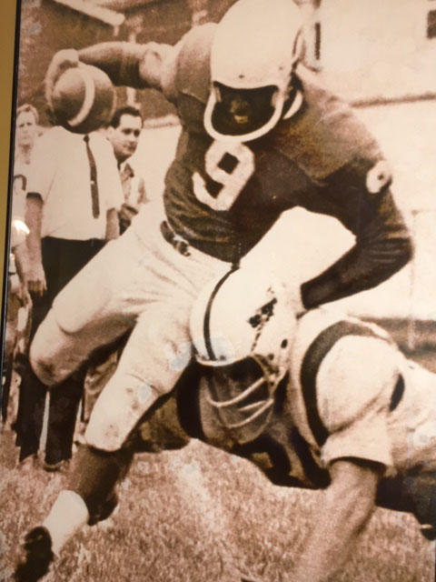 Ron Pennington playing quarterback for the Charleston Rockets.