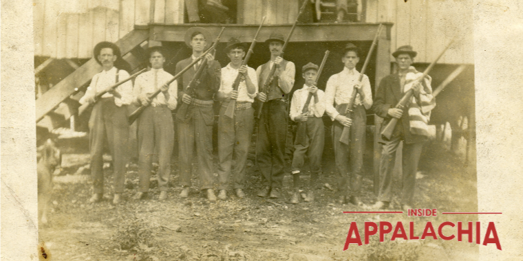 Miners pose with guns in Eskdale, WV (1912)
