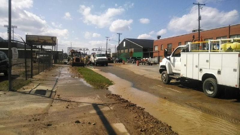 Huntington Water Main Break