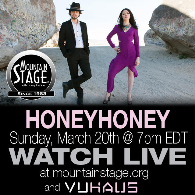 Watch HONEYHONEY make their Mountain Stage debut LIVE on MountainStage.org.