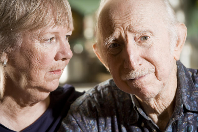 Alzheimer's Disease, dementia, elderly, couple, worried