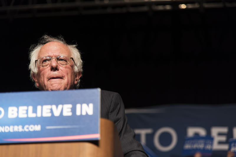 Bernie Sanders spoke to an estimated crowd of 3,000 during his Thursday rally in Morgantown.