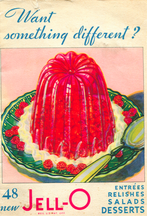 Jell-O ephemera from the collection of Margaret Dotson at the Berea College archives