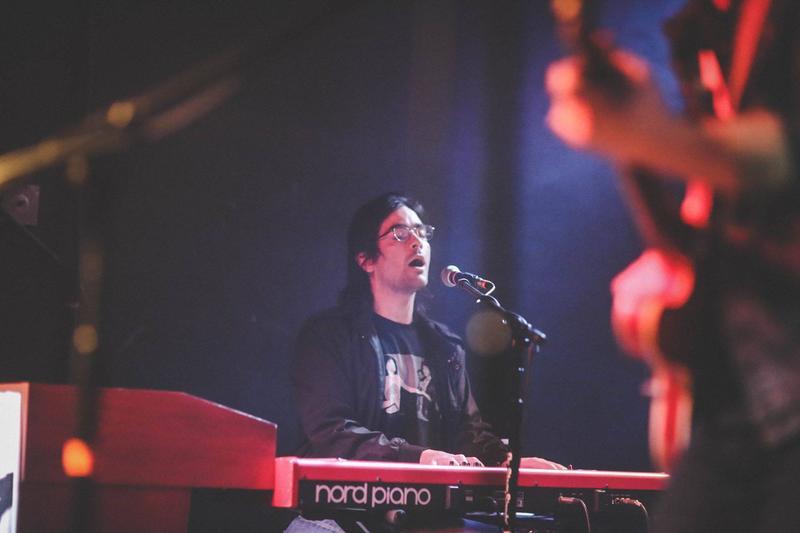 Bradley Goodall plays the keys, both for himself and for Huntington-based band Ona.