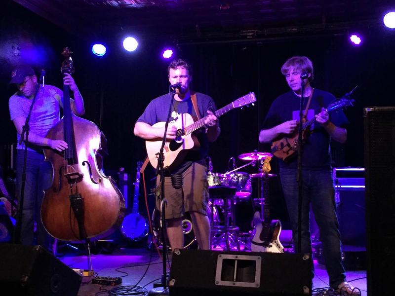 Morgantown-based trio 18 Strings plays a mix of bluegrass, old-time, and blues.