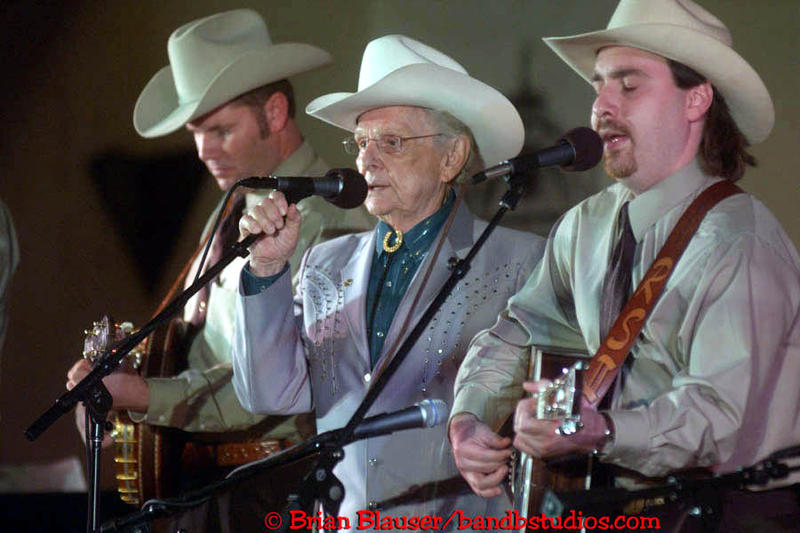 Ralph Stanley, shown here on Mountain Stage at Tamarack in 2005.
