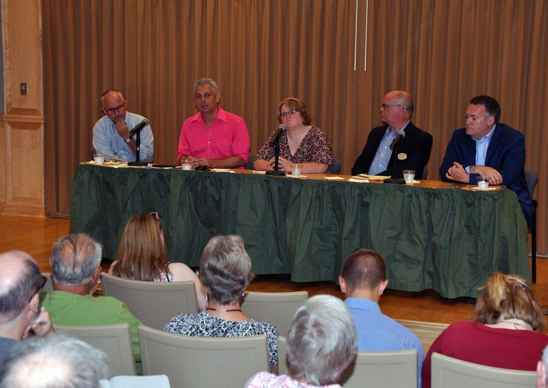 A panel at Shepherd University discusses LGBT rights on Tuesday, July 12, 2016.