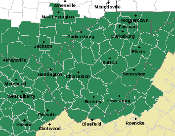 The National Weather Service has issued a flash flood watch for much of West Virginia for Monday, July 4.