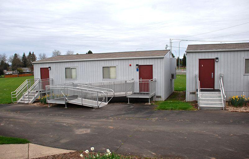 Modular Classroom Portland Oregon ~ Portable buildings installed for clendenin bridge schools