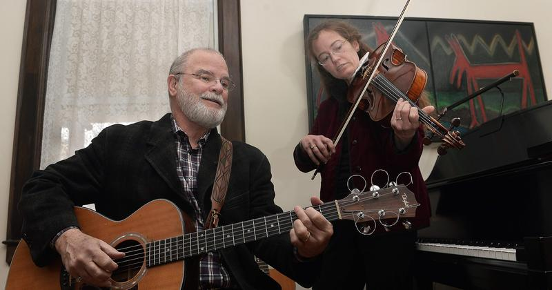 Larry Groce and his wife, violist Sandra Groce.