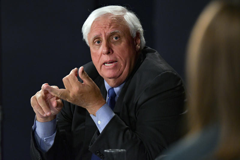 Democratic candidate for governor Jim Justice during a debate Tuesday.