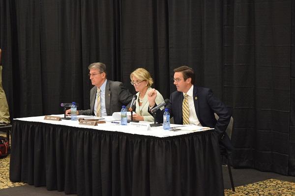 Senators Joe Manchin, Shelley Moore Capito, and Representative Evan Jenkins