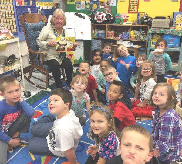WVPB Friends Board Member, Bonnie Brown, reads at Montrose Elementary School