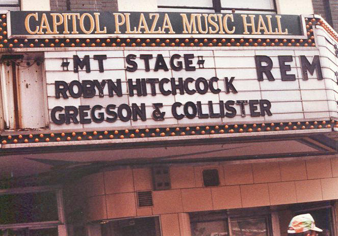 Capitol Plaza Music Hall marquee on April 28, 1991.