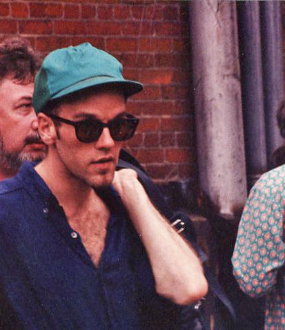 Michael Stipe before the R.E.M. performance.