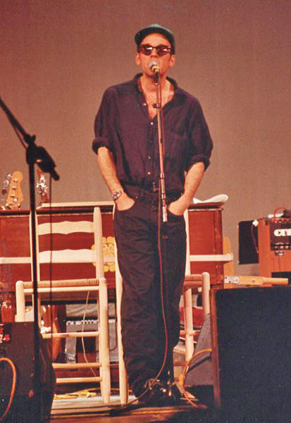 Michael Stipe of R.E.M. onstage at Mountain Stage, April 28, 1991.