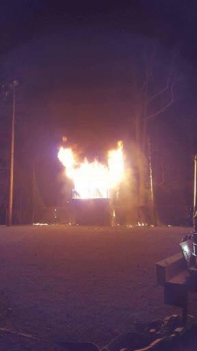 Racine Press Box Fire
