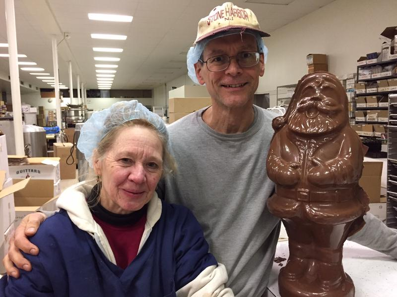 Brenda and Charlie Casabona, owners of DeFluri's Fine Chocolates in Martinsburg.