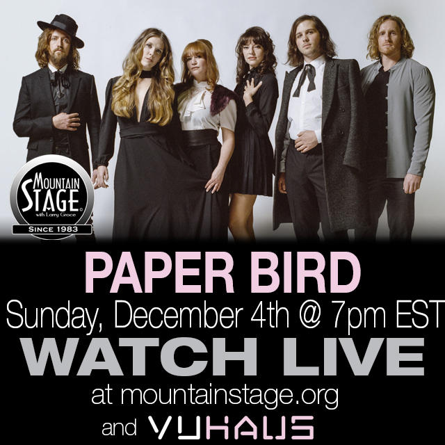 Paper Bird will make their Mountain Stage debut on this December 4 show.