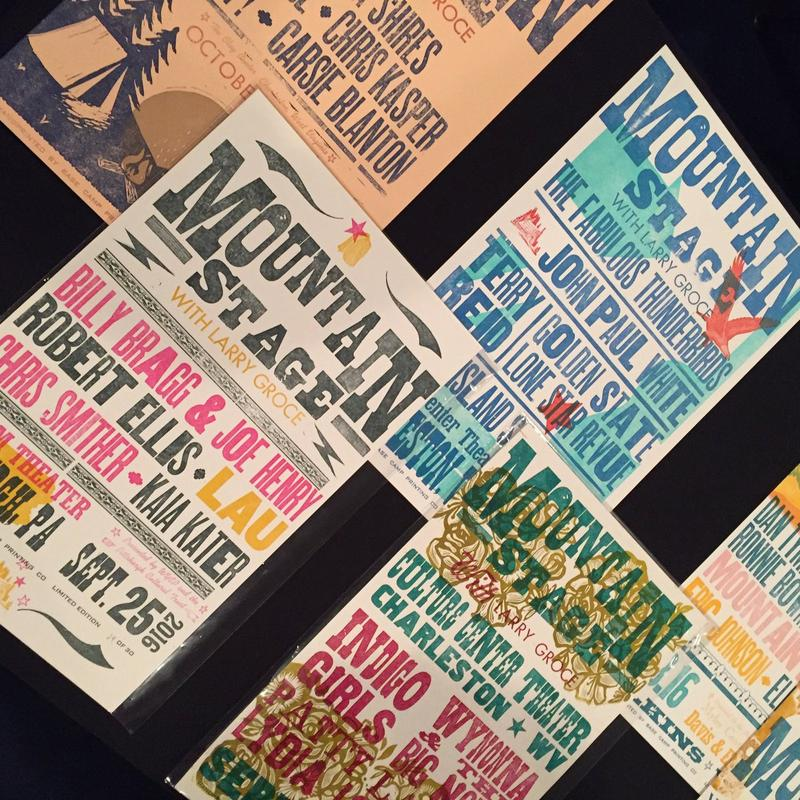 Base Camp Printing, posters, NPR Music, Mountain Stage, WVmade