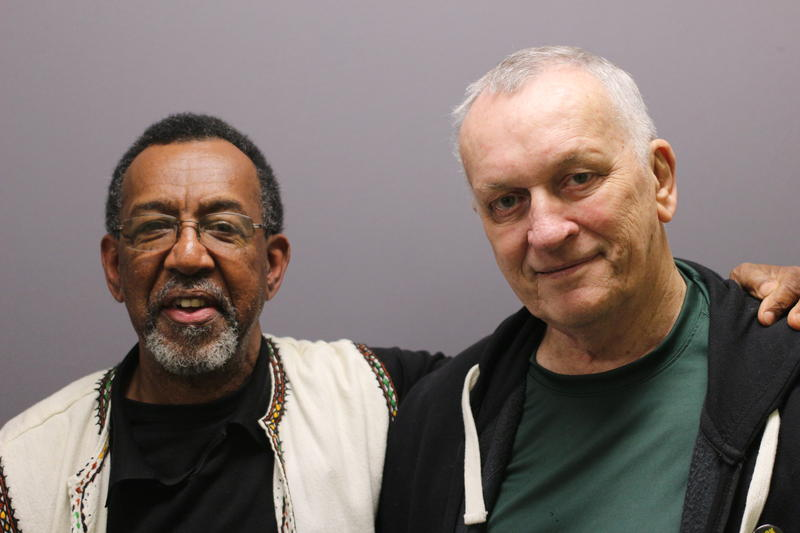 Ronald Wilkerson and his friend Mike Youngren. Wilkerson talks about his struggle with racism in West Virginia, and how his search for spiritual answers helped his healing process.