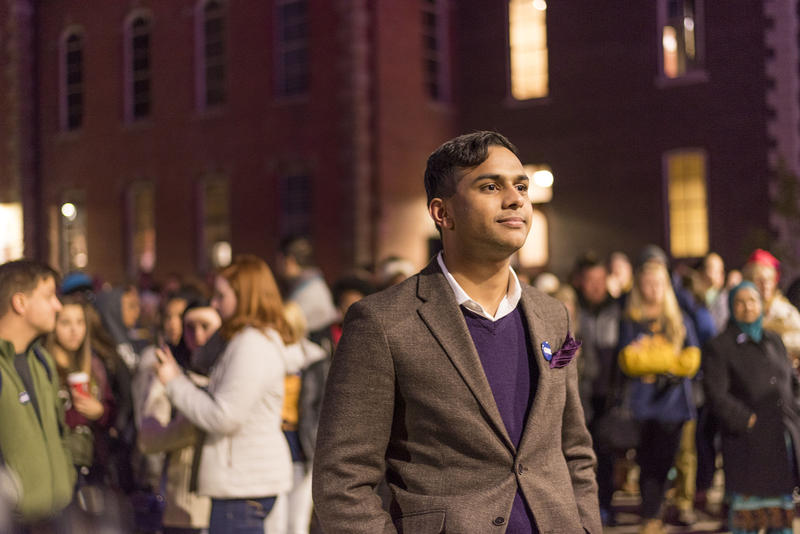 Shani Waris serves as a diversity ambassador and is a Student Government Association senator at West Virginia University. He spoke at a 2016 event in Morgantown  after the election