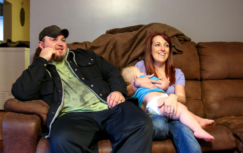 Coal miner Jonathan Griffith and his wife Jessica