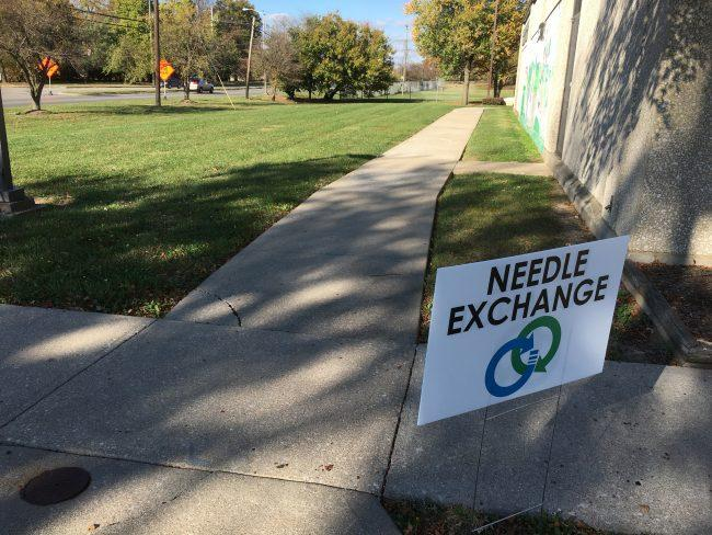 needle exchange sign