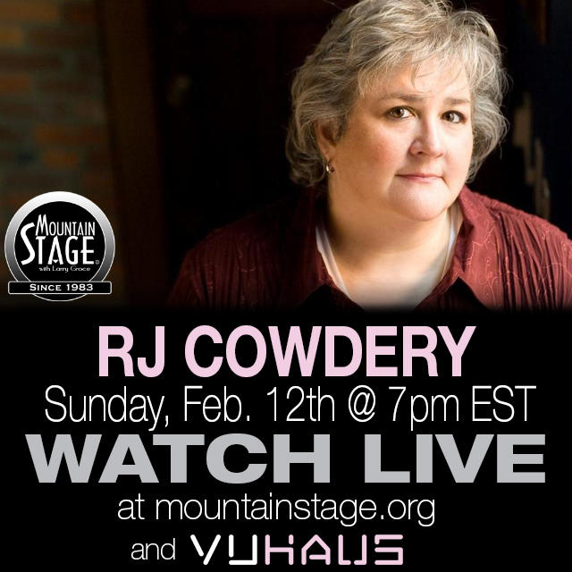 RJ Cowdery makes her Mountain Stage debut on February 12.
