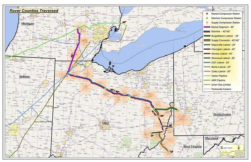 Pipeline That Will Run From West Virginia To Michigan Having - Map of west virginia and ohio