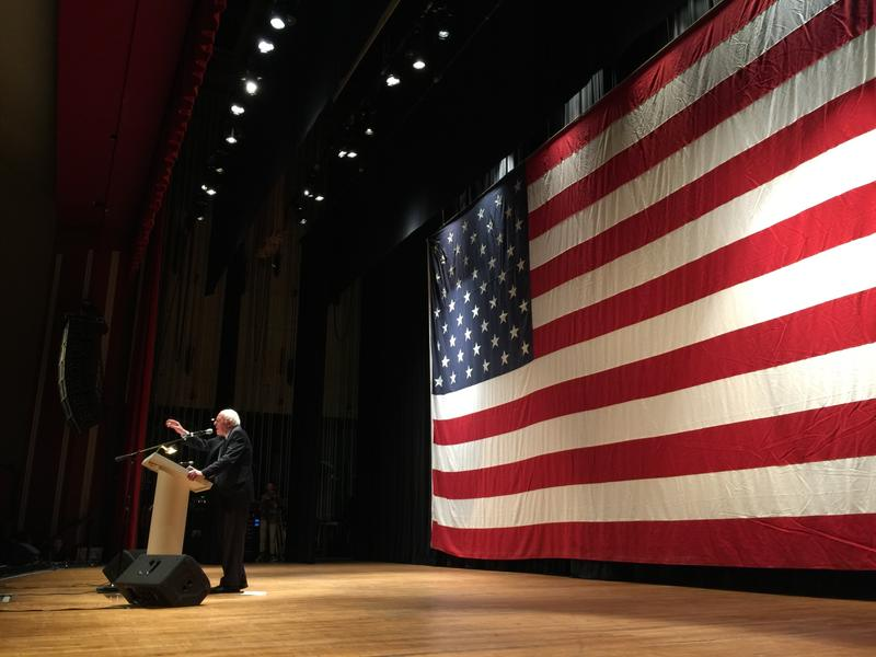 U.S. Senator Bernie Sanders in Charleston Sunday night at the Municipal Auditorium.