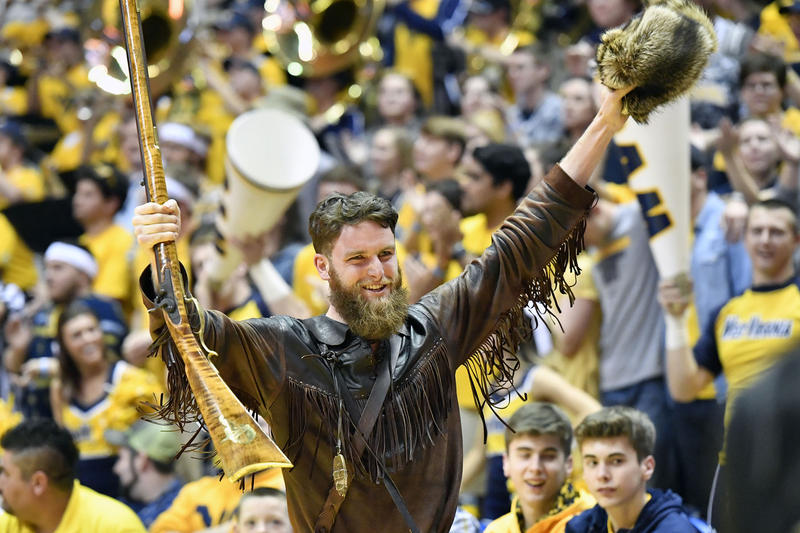 Troy Clemons was selected to serve another year as WVU's mascot.