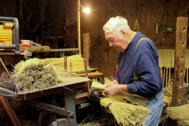James Shaffer first learned to make brooms in 1946