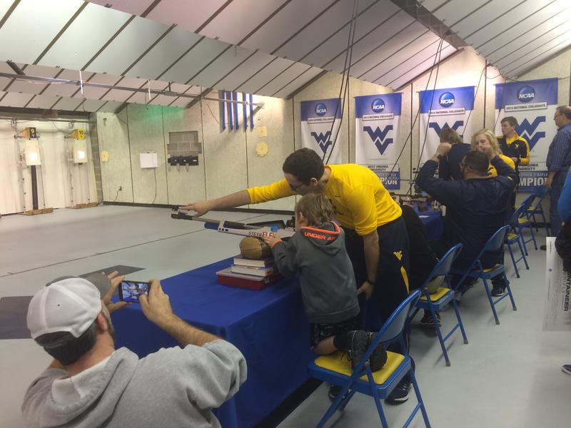 WVU Rifle athletes taught fans the basic of competitive shooting at their rifle range in Morgantown.