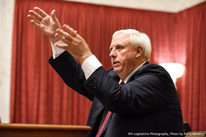 Gov. Jim Justice during his 2017 State of the State Address.