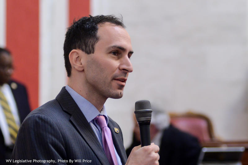 Kanawha County Sen. Corey Palumbo attempted to amend the Senate's election bill Thursday.