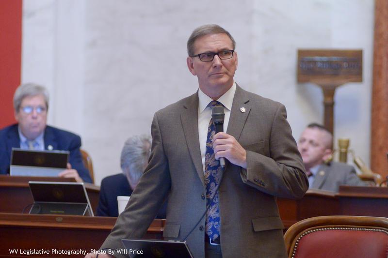 Sen. Ron Stollings on the Senate floor Friday.
